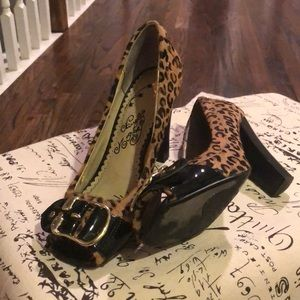 Naughty Monkey size 7- leather and pony hair.